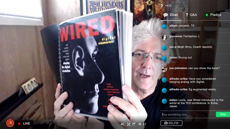 Louis Rossetto and Wired first issue prototype